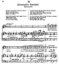 Chi vuole innamorarsi. A. Scarlatti. Alte Meister des Bel Canto, Ed. Peters (PD) | eBooks | Sheet Music