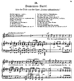 Non ha ragione, ingrato. D. Sarri. Alte Meister des Bel Canto, Ed. Peters (PD) | eBooks | Sheet Music