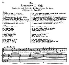 Accresca pietoso.... Se il labbro si lagna. F. de Majo. Alte Meister des Bel Canto, Ed. Peters (PD) | eBooks | Sheet Music