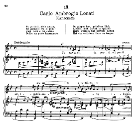 Tu partisti, idolo amato.  C.A.Lonati. Alte Meister des Bel Canto, Ed. Peters (PD)   eBooks   Sheet Music