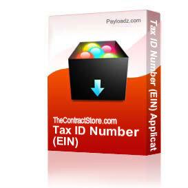 Tax ID Number (EIN) Application | Other Files | Documents and Forms
