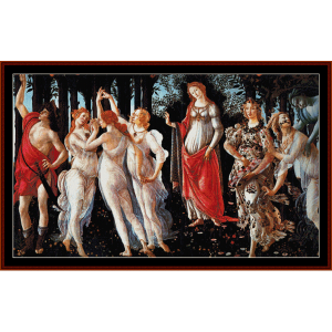Primavera - Botticelli cross stitch pattern by Cross Stitch Collectibles | Crafting | Cross-Stitch | Wall Hangings