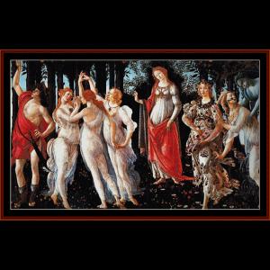primavera - botticelli cross stitch pattern by cross stitch collectibles