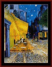 Cafe Terrace - Van Gogh cross stitch pattern by Cross Stitch Collectibles | Crafting | Cross-Stitch | Wall Hangings