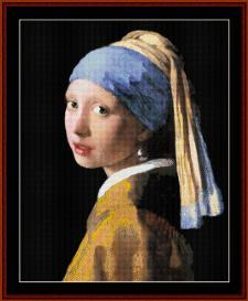 Girl with Pearl Earring - Vermeer cross stitch pattern by Cross Stitch Collectibles | Crafting | Cross-Stitch | Wall Hangings