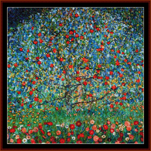 Apple Trees - Klimt cross stitch pattern by Cross Stitch Collectibles | Crafting | Cross-Stitch | Wall Hangings