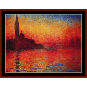 Dusk 1908 - Monet cross stitch pattern by Cross Stitch Collectibles | Crafting | Cross-Stitch | Other