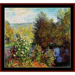Garden at Montgeron - Monet cross stitch pattern by Cross Stitch Collectibles | Crafting | Cross-Stitch | Wall Hangings