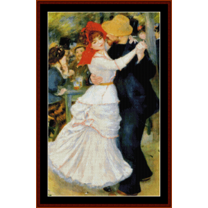 Dance at Bougival - Renoir cross stitch pattern by Cross Stitch Collectibles | Crafting | Cross-Stitch | Wall Hangings