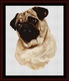 Pug - Robert J. May cross stitch pattern by Cross Stitch Collectibles | Crafting | Cross-Stitch | Wall Hangings
