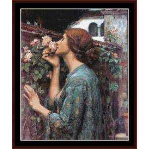 My Sweet Rose - Waterhouse cross stitch pattern by Cross Stitch Collectibles | Crafting | Cross-Stitch | Wall Hangings