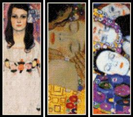 klimt bookmark collection cross stitch patterns by cross stitch collectibles
