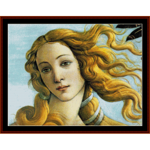 La Naissance de Venus - Botticelli cross stitch pattern by Cross Stitch Collectibles | Crafting | Cross-Stitch | Wall Hangings