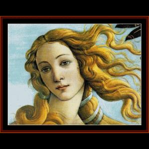 la naissance de venus - botticelli cross stitch pattern by cross stitch collectibles