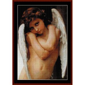 Cupidon - Bouguereau cross stitch pattern by Cross Stitch Collectibles | Crafting | Cross-Stitch | Wall Hangings