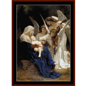 song of the angels - bouguereau cross stitch pattern by cross stitch collectibles