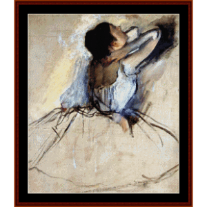 The Dancer - Degas cross stitch pattern by Cross Stitch Collectibles | Crafting | Cross-Stitch | Wall Hangings