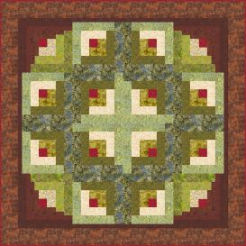 circle of life log cabin quilt pattern