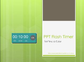 ppt flash timer set time & color