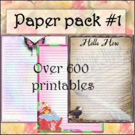 pretty paper pack #1