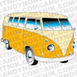 car clip art 1962 vw bus