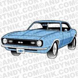 Car Clip Art 1968 Chevy SS Camaro