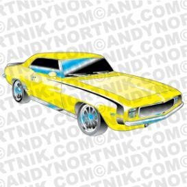 car clip art 1969 chevy rs ss camaro