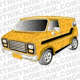 car clip art 1979 chevy van