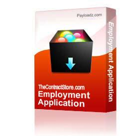 Employment Application | Other Files | Documents and Forms