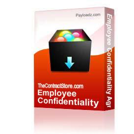 Employee Confidentiality Agreement | Other Files | Documents and Forms