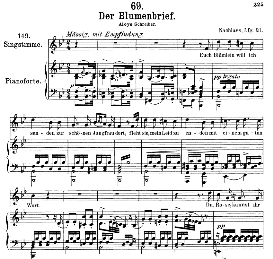 Der Blumenbrief D.622, Medium Voice in B Flat Major, F. Schubert  (Pet.) | eBooks | Sheet Music