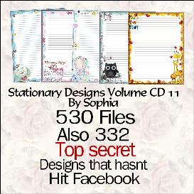 printable stationary designs vol 11 made by sophia delve