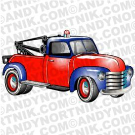 car clip art 1953 chevy tow truck