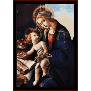 Madonna and Child - Botticelli cross stitch pattern by Cross Stitch Collectibles | Crafting | Cross-Stitch | Wall Hangings