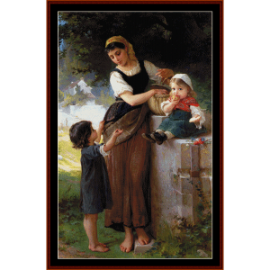 May I Have One Too - Emile Munier cross stitch pattern by Cross Stitch Collectibles | Crafting | Cross-Stitch | Wall Hangings