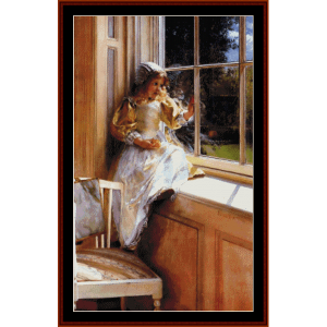 Sunshine - Alma Tadema cross stitch pattern by Cross Stitch Collectibles | Crafting | Cross-Stitch | Wall Hangings