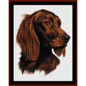 irish setter - robert j. may cross stitch pattern by cross stitch collectibles