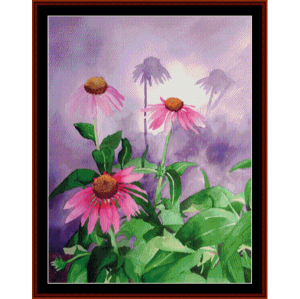 Coneflower - Floral cross stitch pattern by Cross Stitch Collectibles | Crafting | Cross-Stitch | Wall Hangings