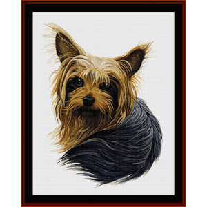 yorkshire terrier ii - robert j. may cross stitch pattern by cross stitch collectibles