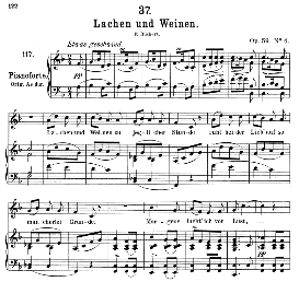 lachen und weinen d.777, medium voice in f major, f. schubert (pet.)
