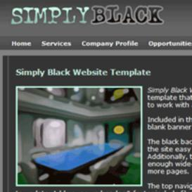 Simply Black Website Template | Other Files | Patterns and Templates