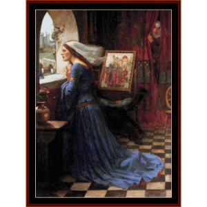 fair rosamund - waterhouse cross stitch pattern by cross stitch collectibles