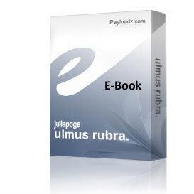 ulmus rubra. | eBooks | Health