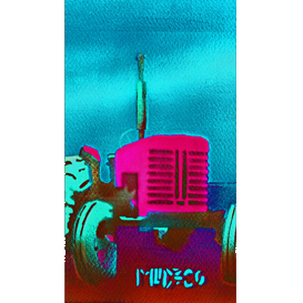 red tractor iphone5 s/c screensaver