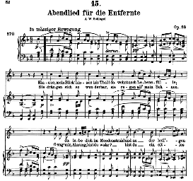 Abendlied für die Entfernte D.856 in E Flat Major, High Voice, F. Schuber (Pet)t | eBooks | Sheet Music