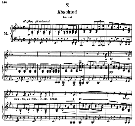 Abschied D.957-7, High Voice in E Flat Major, F. Schubert (Schwanengesang) Pet. | eBooks | Sheet Music