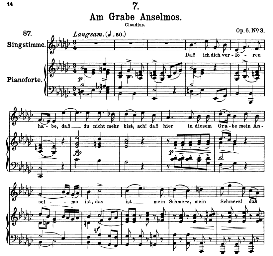 Am grabe Anselmos D.504 in E Flat Minor, High Voice. F. Schubert (Pet.) | eBooks | Sheet Music