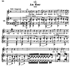 Am Meer D.957-12 in C Major, High Voice. F. Schubert (Schwanengesang). Pet. | eBooks | Sheet Music