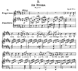 Am Strome D.539 in B Major, High Voice. F. Schubert (Pet.) | eBooks | Sheet Music