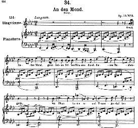 An den Mond D.193 Geuss, lieber Mond, High Voice  in F Minor, F. Schubert (Pet.) | eBooks | Sheet Music